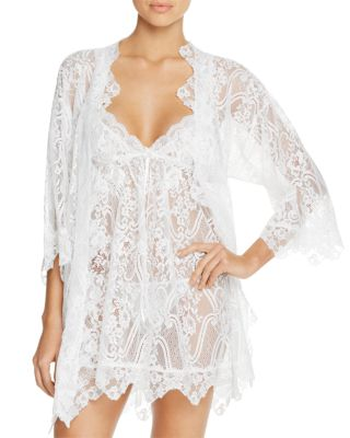 Jonquil WRAPPER LACE ROBE