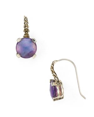 Stephen Dweck Purple Amethyst Drop Earrings