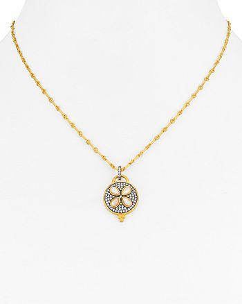 "Freida Rothman - Fleur Bloom Petal Pendant Necklace, 16"""
