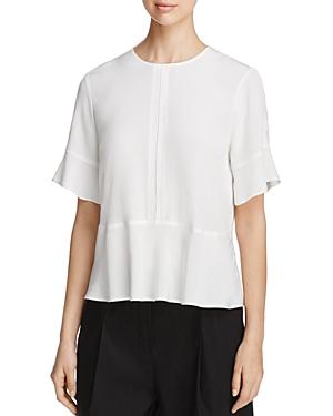 Dkny Short Sleeve Silk Blouse