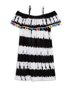 Flowers by Zoe Girls' Pom-Pom Tie-Dye Dress - Big Kid