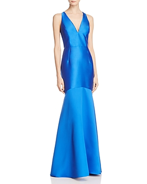 Adrianna Papell Embellished Lace-Back Gown