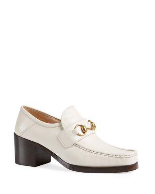 Vegas Leather Mid Heel Loafers