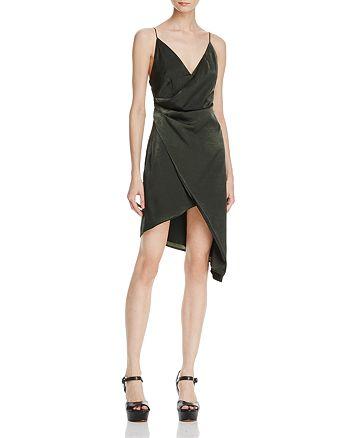 Stylestalker - Trinity Faux-Wrap Slip Dress