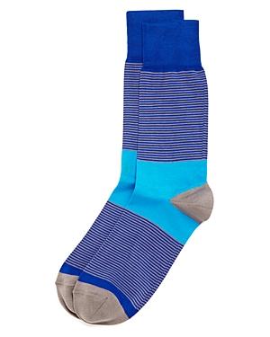 Bruno Magli Thin Stripe Socks