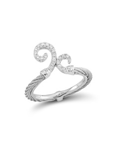 ALOR - Diamond Gray Cable Ring