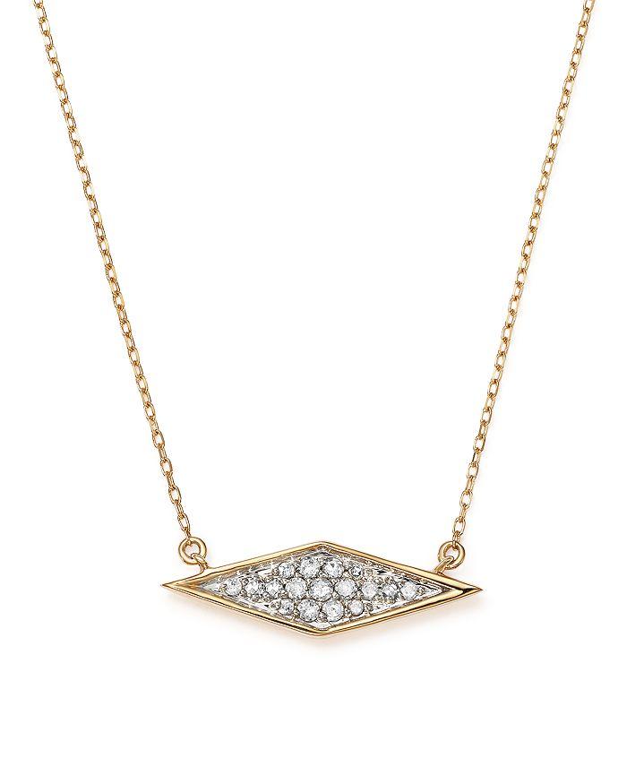 "Adina Reyter - 14K Yellow Gold Pavé Diamond Pendant Necklace, 15"""