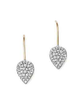 Adina Reyter - Sterling Silver and 14K Yellow Gold Pavé Diamond Teardrop Earrings