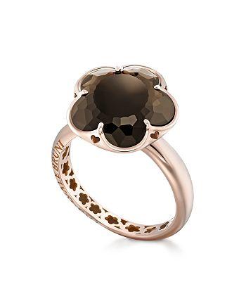 Pasquale Bruni - 18K Rose Gold Floral Smoky Quartz Ring