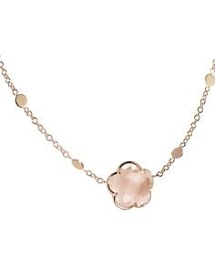 "Pasquale Bruni 18K Rose Gold Floral Rose Quartz Pendant Necklace, 16"" - Bloomingdale's_0"