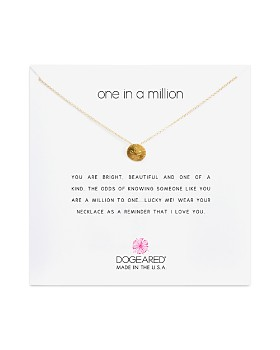 """Dogeared - One in a Million Pendant Necklace, 16"""""""