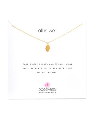 ALL IS WELL HAMSA NECKLACE, 16