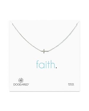 Dogeared Sterling Silver Whisper Cross Necklace, 16