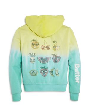 Butter Girls' Dip Dye Cool Fruits Hoodie - Little Kid