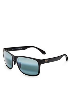 Maui Jim - Men's Red Sands Polarized Mirrored Rectangle Sunglasses, 59mm