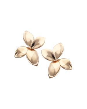 Pasquale Bruni 18K Rose Gold Secret Garden Four Petal Stud Earrings 2082190