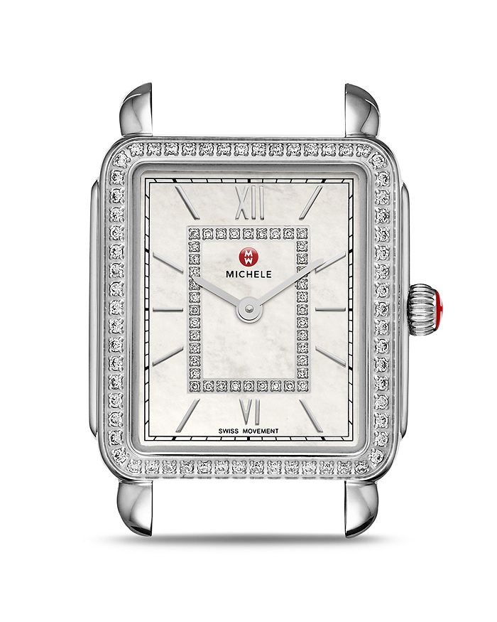 MICHELE - Deco II Diamond Dial Watch Head, 26 x 27.5mm