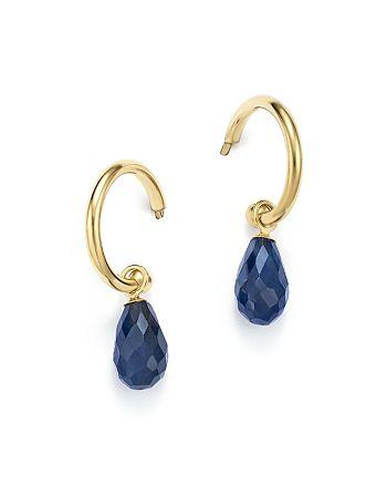 Bloomingdale's - Sapphire Briolette Hoop Drop Earrings in 14K Yellow Gold - 100% Exclusive