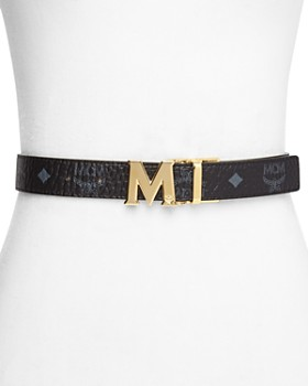 MCM - Flat Logo Buckle Reversible Belt