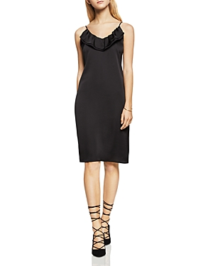BCBGeneration Charmeuse Ruffle Slip Dress
