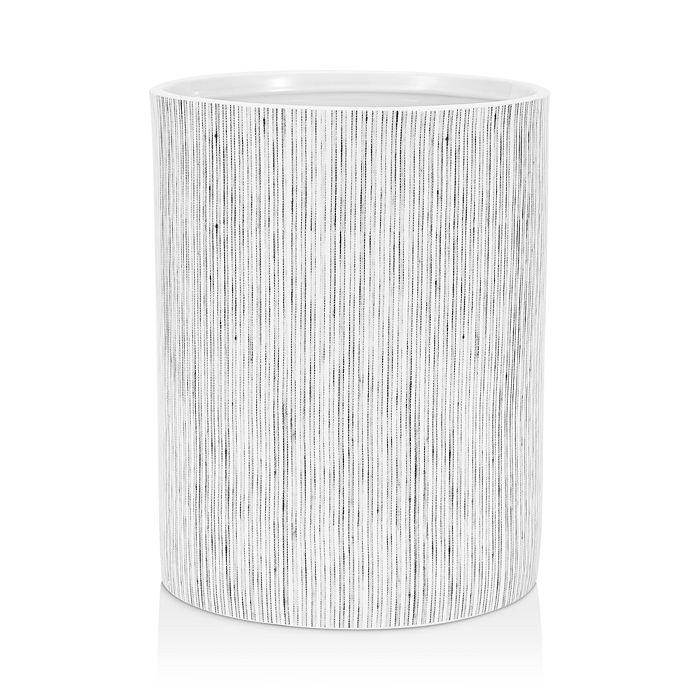 Kassatex Wainscott Waste Basket In White