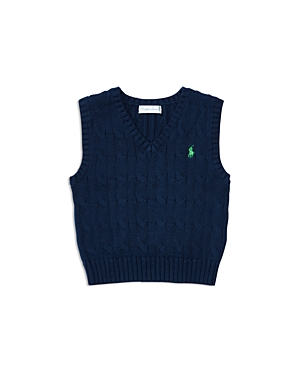 Ralph Lauren Childrenswear Boys' Cotton Cable Vest - Baby