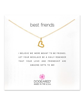 Dogeared - Best Friends Loving Heart Pendant Necklace, ...