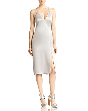 Halston Heritage Satin Slip Dress