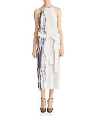 Halston Heritage Printed Silk Slip Dress