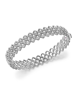 Roberto Coin 18K White Gold New Barocco Diamond Bangle