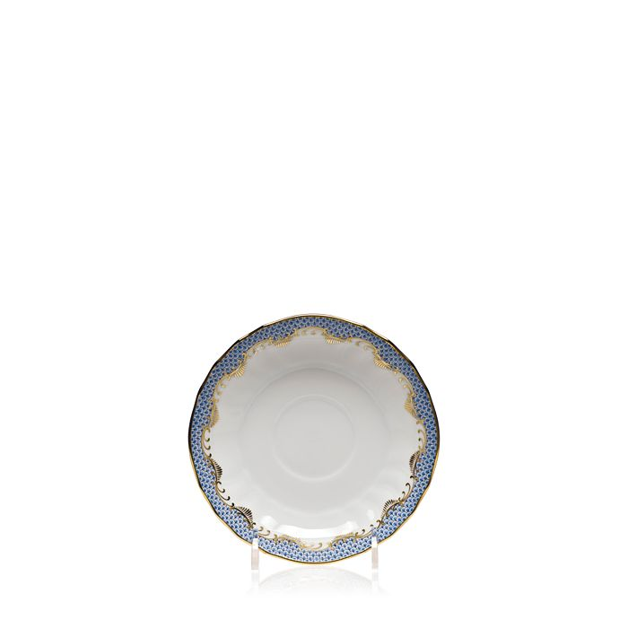 Herend - Fishscale Light Blue Canton Saucer