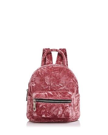 $Street Level Mini Crushed Velvet Backpack - Bloomingdale's