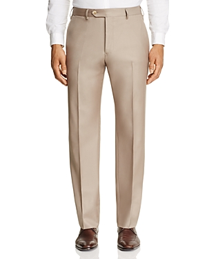 Luigi Bianchi Solid Classic Fit Dress Pants