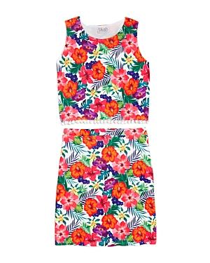 Blush By Us Angels Girls Floral Tank  Skirt Set  Big Kid