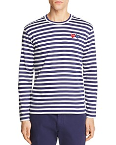 Comme Des Garcons PLAY Double-Heart Long Sleeve Tee - Bloomingdale's_0