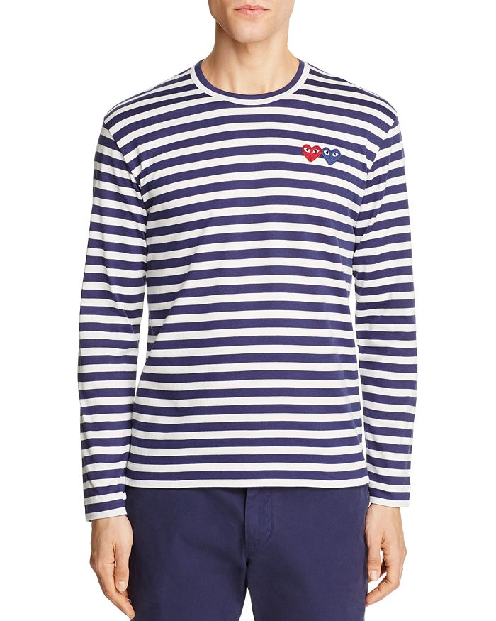 caae1b73 Comme Des Garcons PLAY Double-Heart Long Sleeve Tee | Bloomingdale's