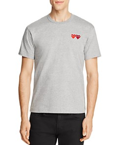 Comme Des Garcons PLAY - Double-Heart Tee
