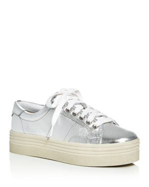 Marc Fisher Ltd. Emmy Metallic Lace Up Platform Sneakers