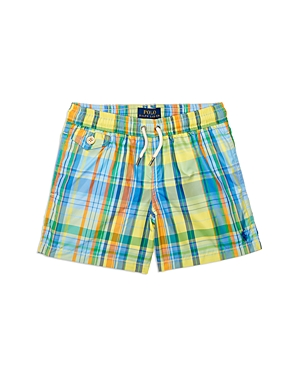 Ralph Lauren Childrenswear Boys' Traveler Plaid Swim Trunks - Baby