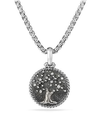David Yurman - Tree of Life Amulet with Diamonds