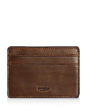 Shinola Distressed Card Case-Men