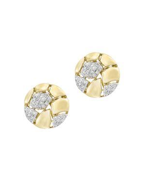 Diamond Stud Earrings in 14K Yellow Gold, .20 ct. t.w. - 100% Exclusive