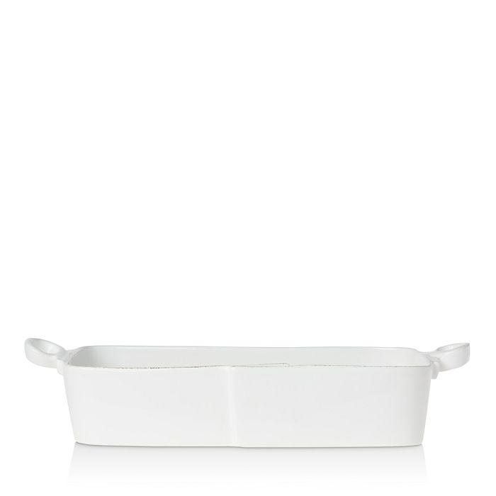 VIETRI - Lastra White Rectangular Baker