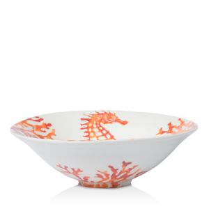 Vietri Costiera Coral Seahorse Medium Serving Bowl