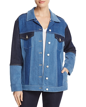 French Connection Denim Patchwork Jacket