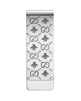 Gucci - Sterling Silver Paisley & Bee Motif Money Clip