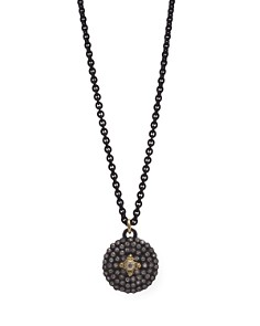 """Armenta 18K Yellow Gold and Blackened Sterling Silver Old World Diamond Shield Pendant Necklace, 20"""" - Bloomingdale's_0"""