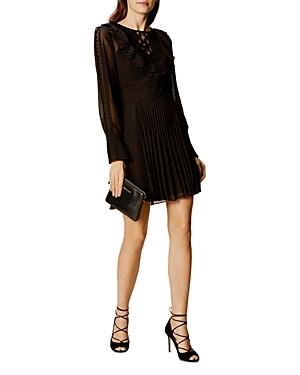 Karen Millen Pleated Ruffle Dress
