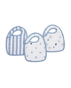 Aden and Anais - Infant Boys' Rock Star Bibs, 3 Pack
