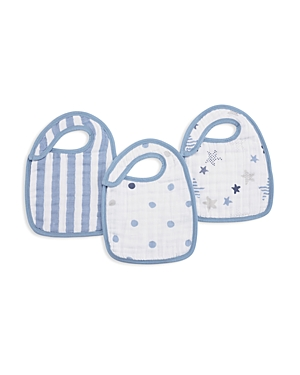 Aden and Anais Infant Boys' Rock Star Bibs, 3 Pack